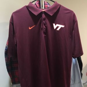 Virginia tech Nike dri fit polo collared shirt